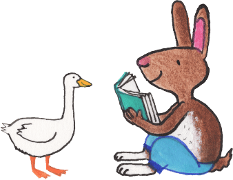 illustration-rabbit-n-goose