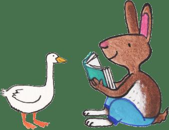 illustration-rabbit-n-goose