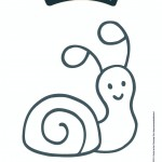 Biobim kleurplaat slak