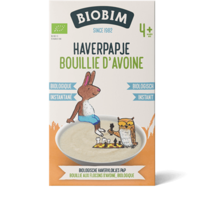 Bouillie pur bébés aux flocons d'avoine biologique à partir de 4 mois
