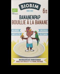 Bouillie pour bébés multicéréales et banane, biologique - a partir de 6 mois